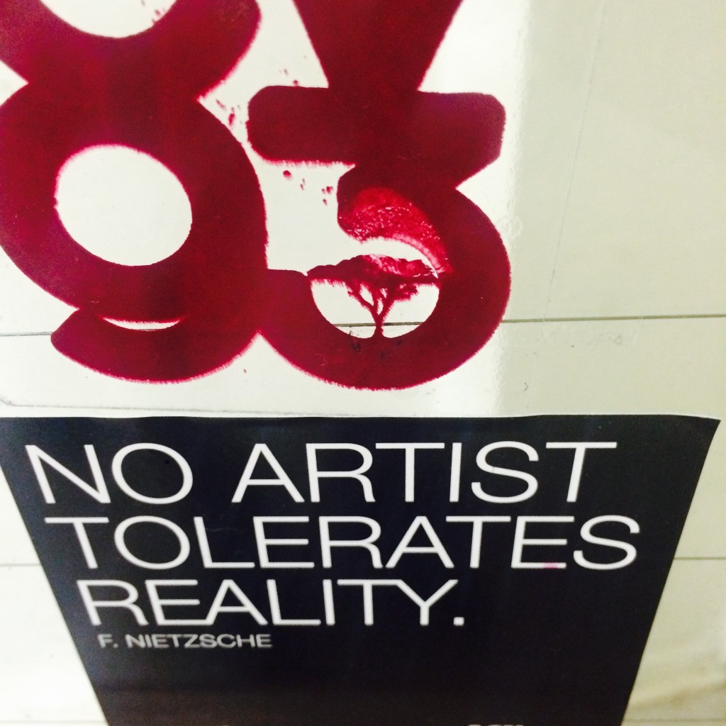 no artist tolerates reality